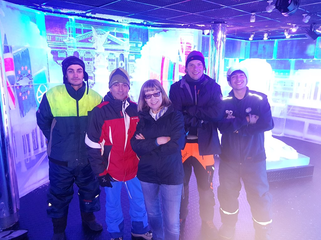 PSD Ice Art crew at belowzero Ice Bar London