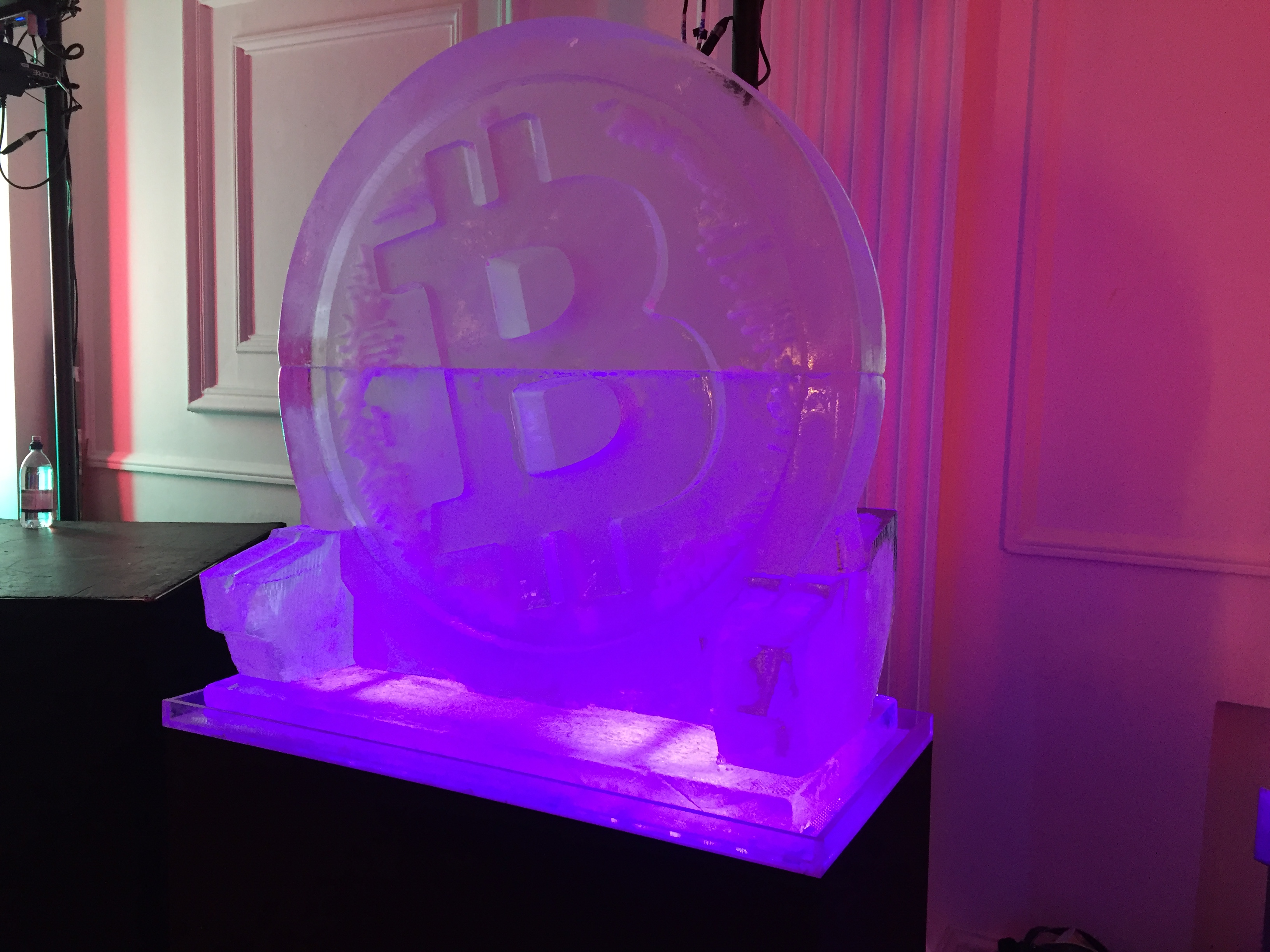 Bitcoin Cash ice sculpture luge