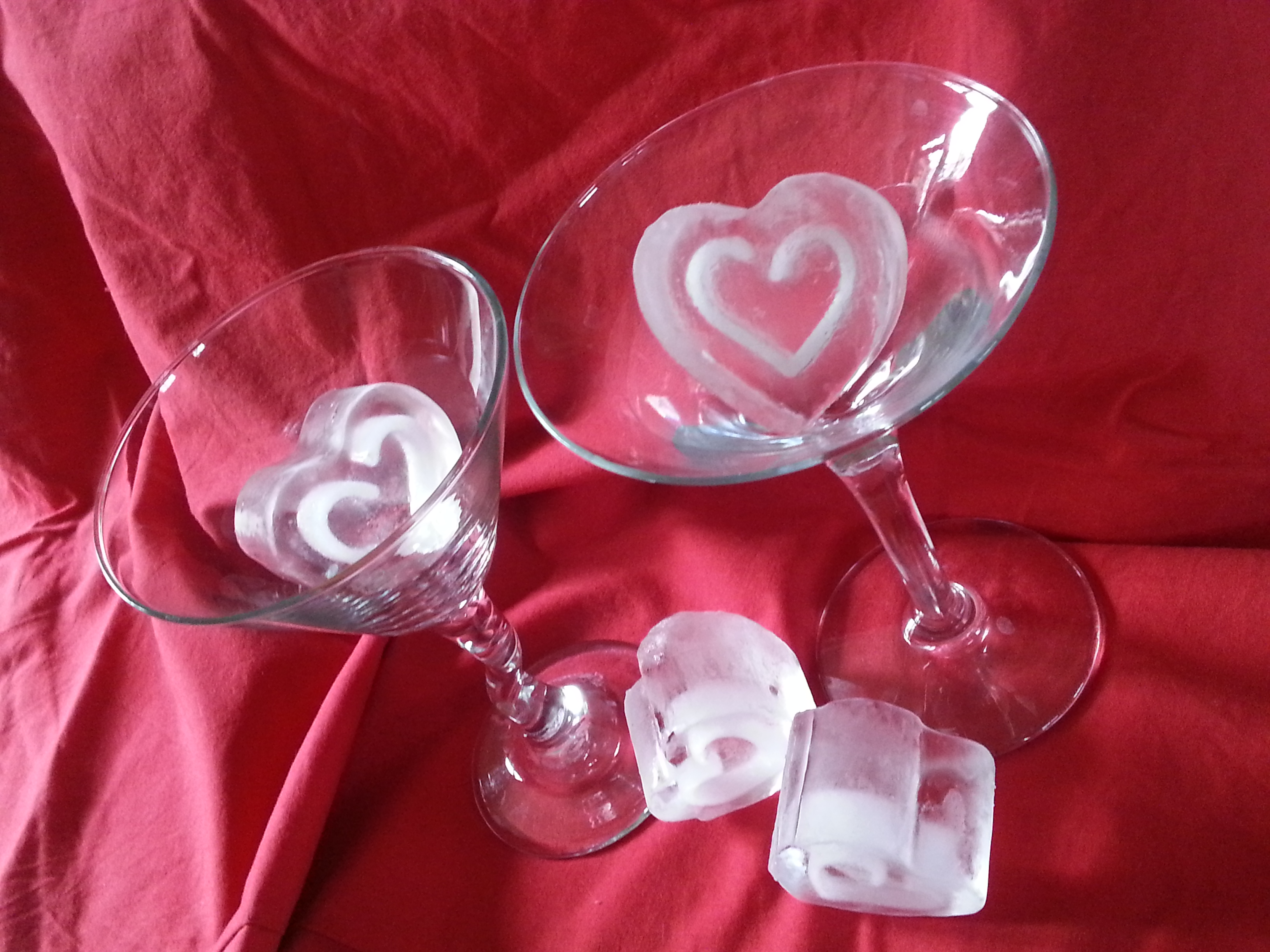 heart ice cubes