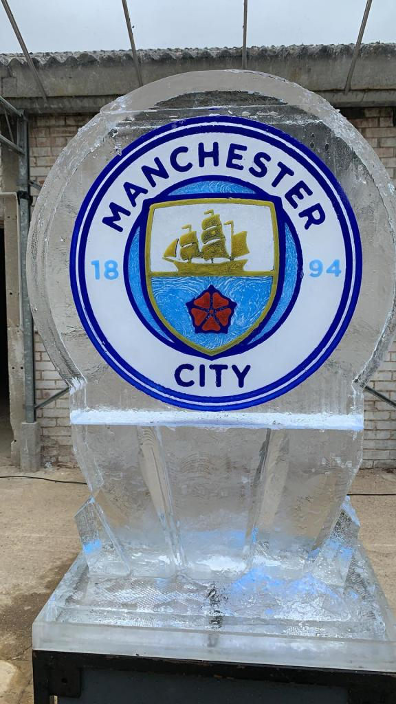 PSD Ice Art Ice Sculpture Manchester City Logo
