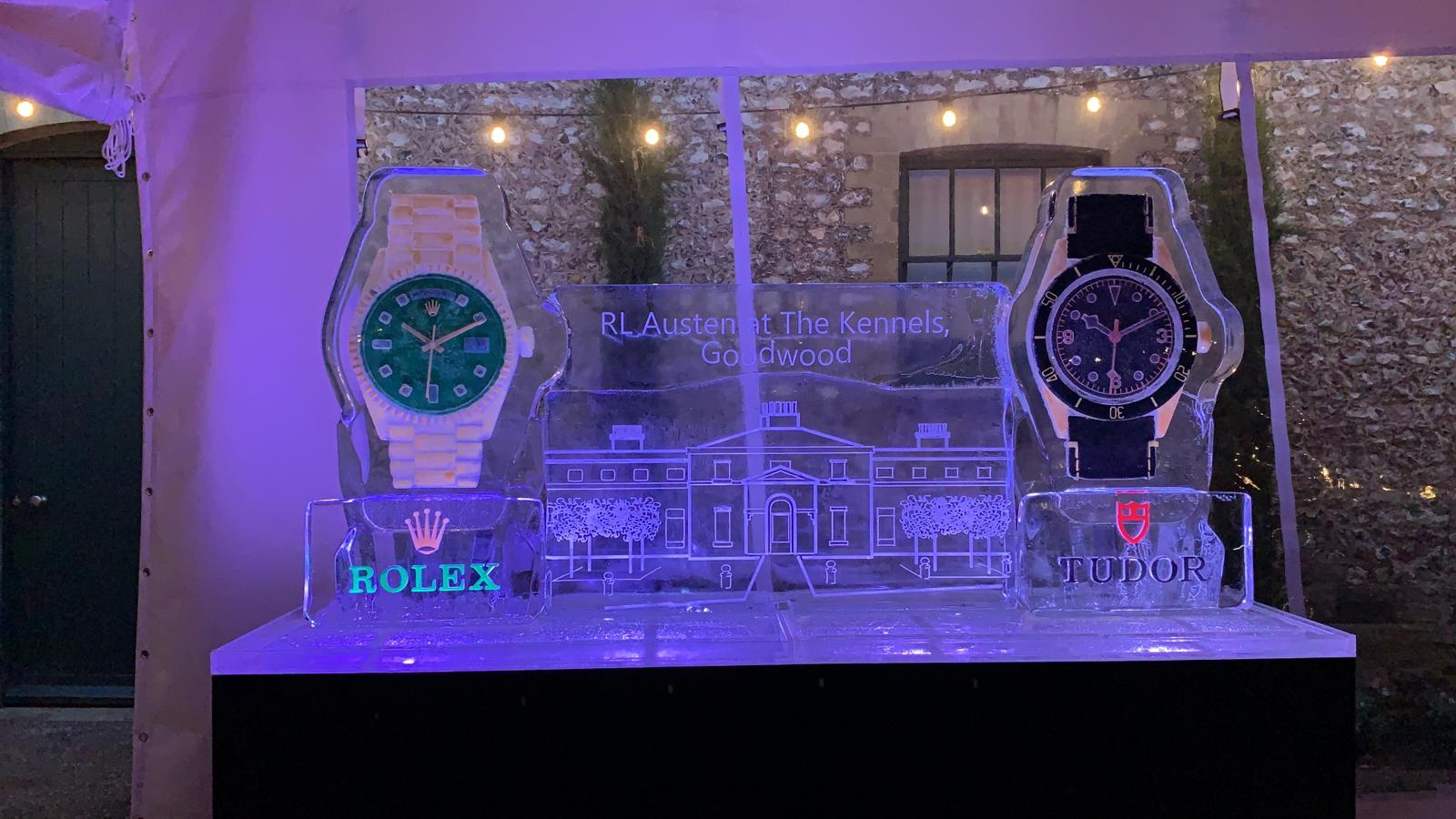 Rolex and Tudor Watches Ice Sculpture