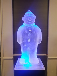 Snowman Ice Sculpture