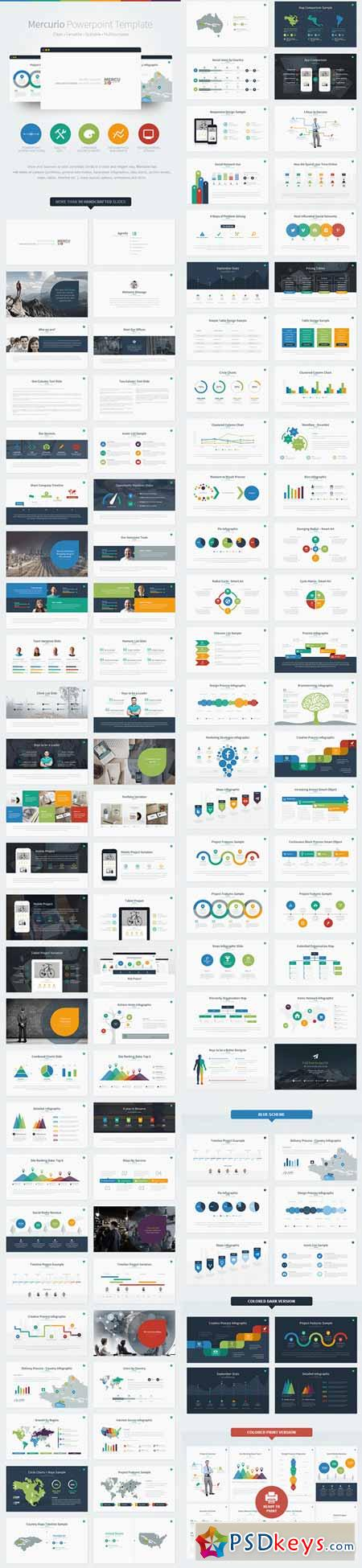 Mercurio Powerpoint Presentation Template 8527176