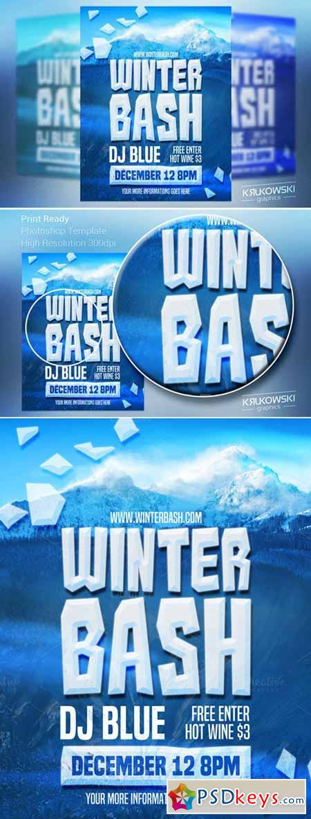 Winter Bash Flyer Template 440462 » Free Download Photoshop Vector ...
