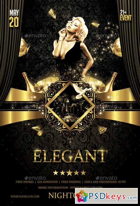 Elegant Party Flyer 14402478 » Free Download Photoshop