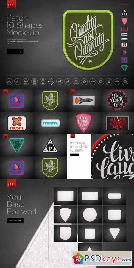 I want to give out more patches. Patch 10 Shapes Mock Up 537030 Free Download Photoshop Vector Stock Image Via Torrent Zippyshare From Psdkeys Com