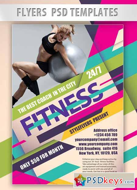 Fitness PSD Flyer PSD Template Facebook Cover » Free