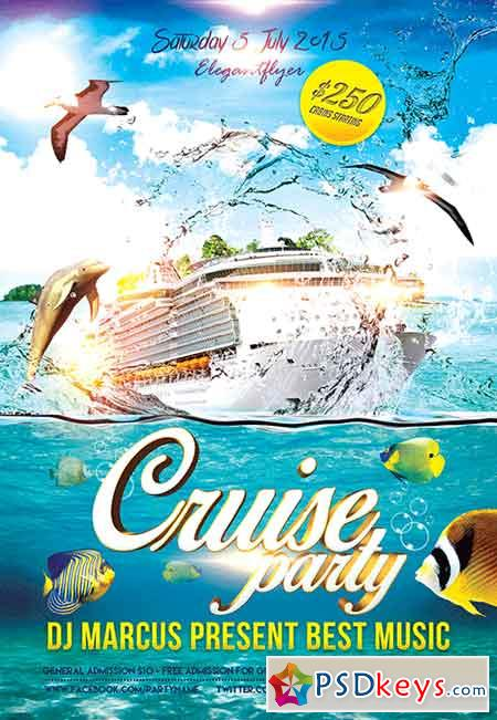 Cruise Party Flyer PSD Template FB Cover » Free Download