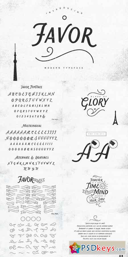 Favor Typeface 946377 » Free Download Photoshop Vector