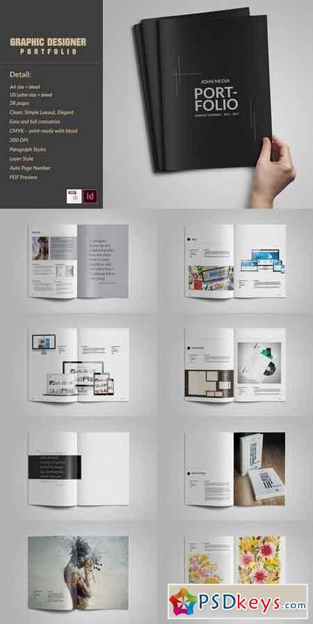 Graphic Designer Portfolio Template 1390476 » Free