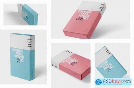 Download Cereals Box Mockup - Slim Size Box » Free Download ...