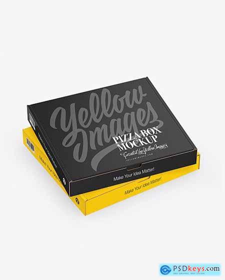 Download Two Matte Pizza Boxes Mockup 64228 » Free Download ...