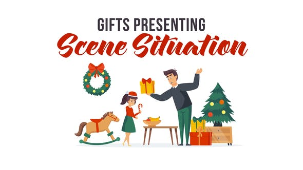 Videohive Gifts presenting - Scene Situation 29496525