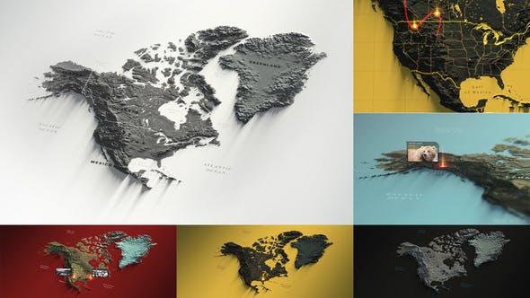 Videohive North America Map 29479163