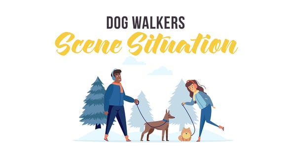 Videohive Dog walkers - Scene Situation 29246904