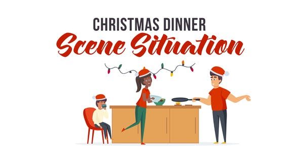 Videohive Christmas dinner - Scene Situation 29496459