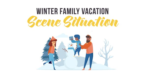 Videohive Winter family vacation - Scene Situation 29247051