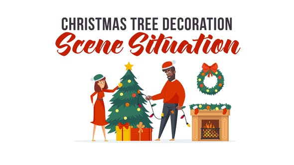 Videohive Christmas tree decoration - Scene Situation 29496492
