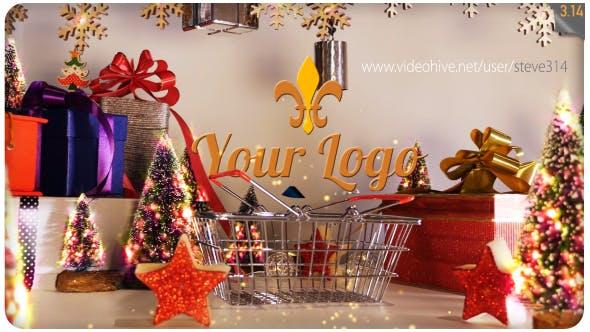Videohive Christmas Shopping Logo 18596345