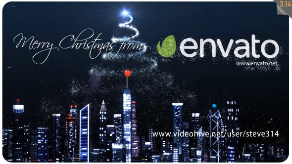 Videohive Christmas Over the City 19138497