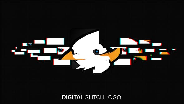 Videohive Digital Glitch Logo Reveal 17772801