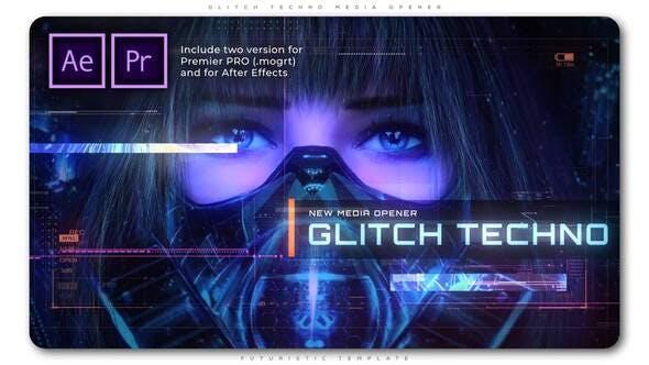 Videohive - Glitch Techno Media Opener - 28907727