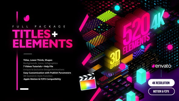 Videohive - Modern Pack of Titles and Elements for FCPX - 4K - 28907886