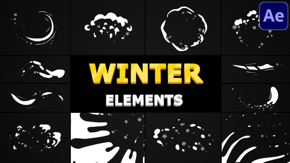 Videohive Snow Motion Elements | After Effects 29508255