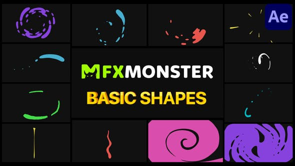 Videohive Basic Shapes Pack | After Effects 29383516