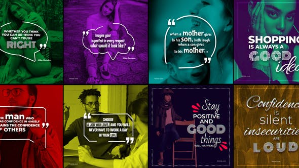 Videohive 20 Qoutes Titles Instagram Pack 2 29384645