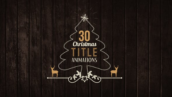 Videohive 30 Christmas Title Animations 21095942