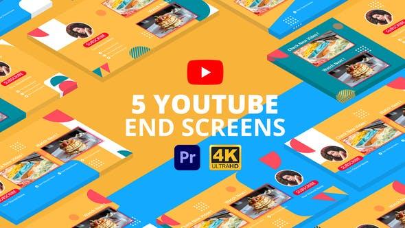 Videohive - YouTube End Screens Vol.3 | Premiere Pro MOGRT - 29415274