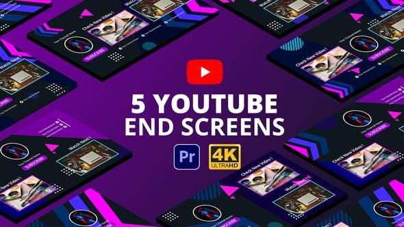 Videohive - YouTube End Screens Vol.4 | Premiere Pro MOGRT - 29415913