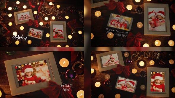 Videohive Christmas Night Photo Frame 20951394