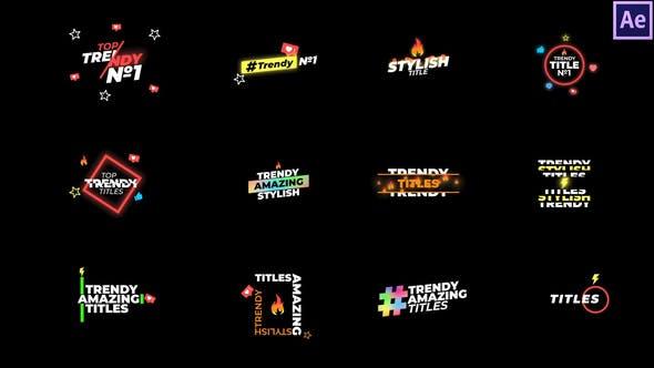 Videohive Trendy Titles 29037773