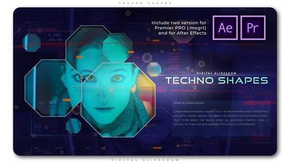 Videohive - Techno Shapes Digital Slideshow - 28805782