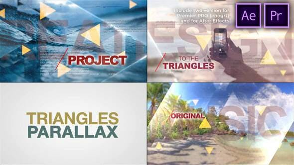 Videohive - Triangles World of Parallax - 29360595