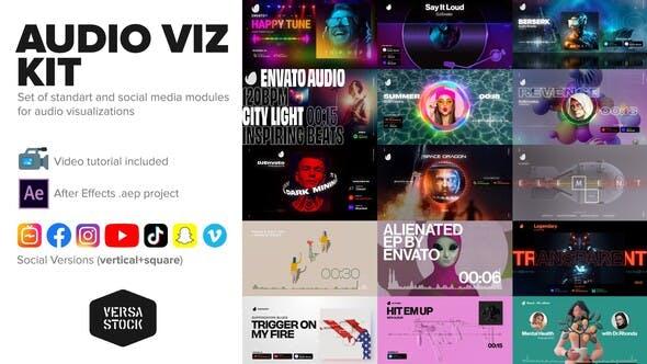 Videohive Audio Visualization Social Media Kit 29347563