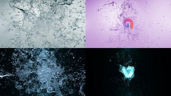 Videohive Water Blast Logo Intro 4 28915697
