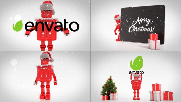Videohive Merry Christmas With Robot Roby29385244