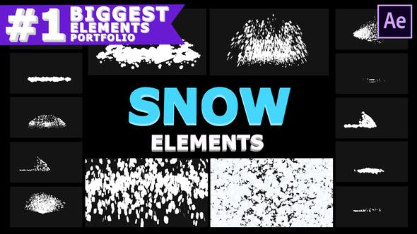 Videohive Cartoon Snowflakes   After Effects 29605909