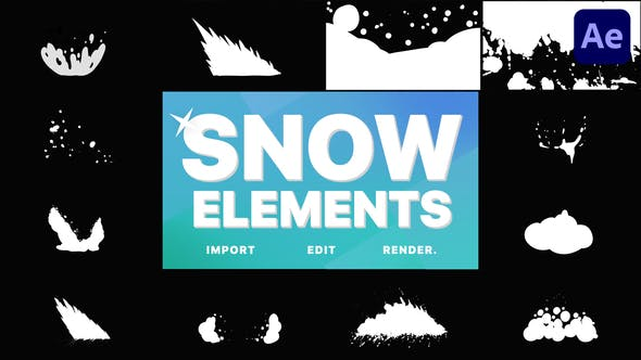 Videohive Snowy Elements   After Effects 29621259