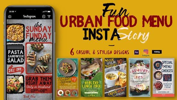 Videohive Fun Urban Food Menu Instagram Stories 29556426