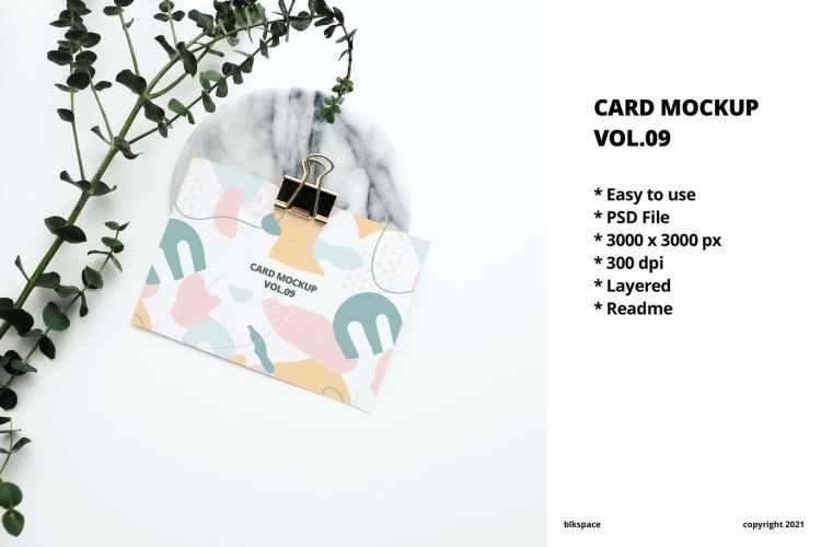 Card Mockup Vol.09 5Q6GBLG