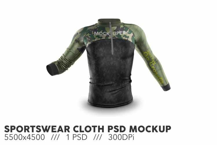 Sportswear Cloth PSD Mockup 9Y3HSCK