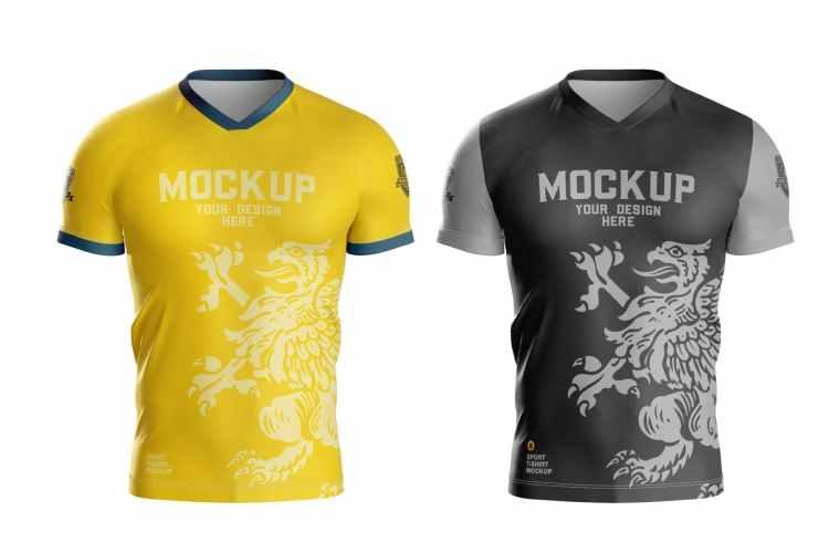 Men's Sports T-shirt Mockup X4T7CRJ