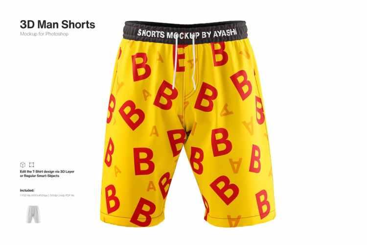 Man Shorts Mockup Y7FL2CS