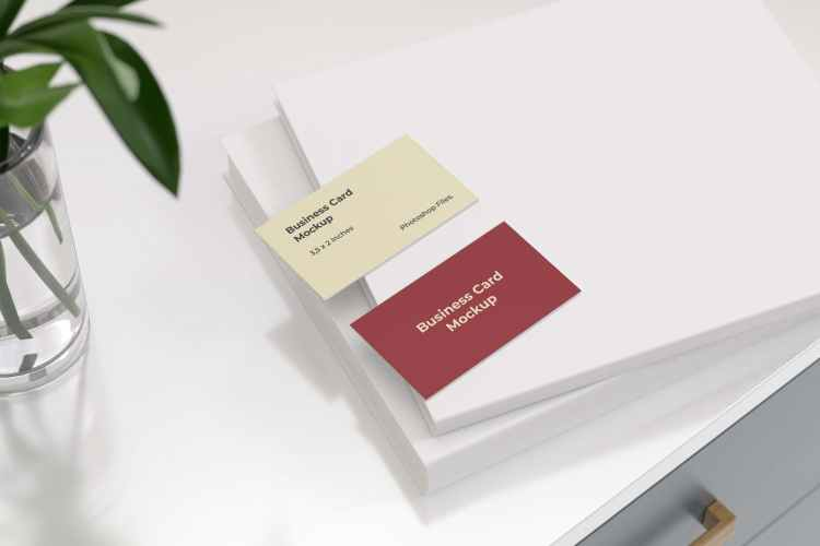 Business Card Mockup on The White Book RANJLUF