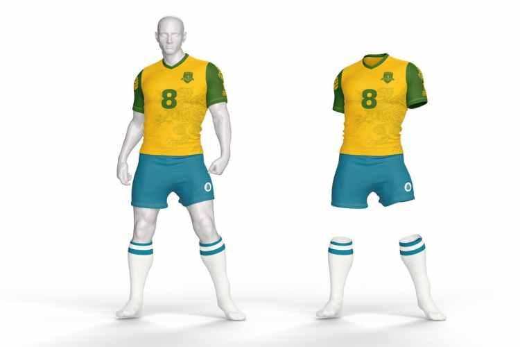 Football Kit T-Shirt Mockup E23PA5D