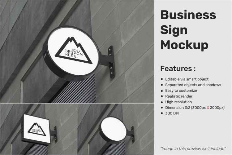 Business sign mockup 74Y82NJ